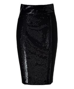L\'Wren Scott | Silk Mesh Embroidered Pencil Skirt Gr. 34