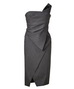 Donna Karan   Anthracite Structured Origami Bustier Dress Gr. 36