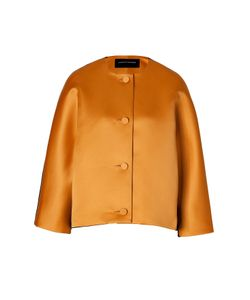 Jonathan Saunders | Satin/Wool Felt Jacket In Golden Gr. L