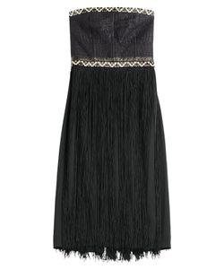 TAMARA MELLON | Embellished Bandeau Dress With Fringe Gr. Us 6