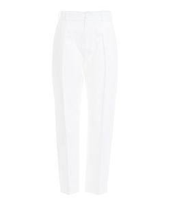 Bouchra Jarrar | Cropped Cotton Pants Gr. Fr 38