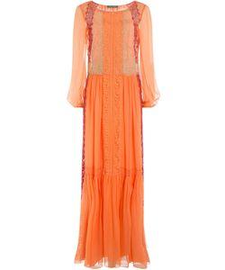 Alberta Ferretti | Lace Detailed Silk Dress Gr. It 38