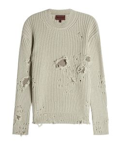 YEEZY | Distressed Wool Pullover Gr. S