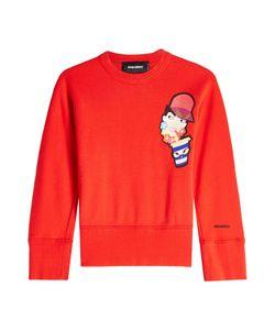 Dsquared2   Printed Cotton Sweatshirt Gr. L