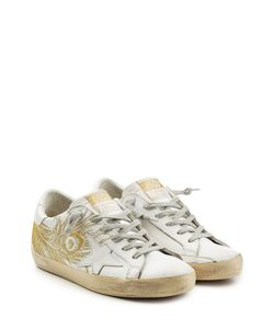 Golden Goose | Embroidered Leather Super Star Sneakers Gr. Eu 35