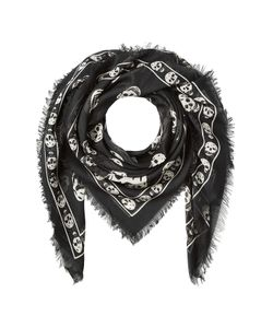 Alexander McQueen | Skull Printed Scarf With Silk Gr. One