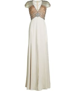 Jenny Packham | Floor Length Gown With Crystal Embellishment Gr. Uk 8