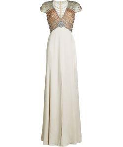 Jenny Packham | Floor Length Gown With Crystal Embellishment Gr. Uk 8