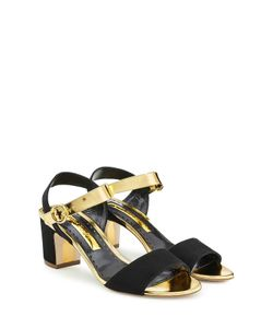 Rupert Sanderson | Suede And Leather Sandals Gr. It 40