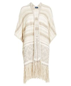 Polo Ralph Lauren | Fringed Cardigan With Cotton Silk And Linen Gr. L