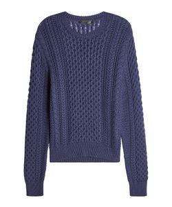 Calvin Klein Collection | Cotton And Cashmere Cable Knit Pullover Gr. M