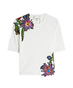 3.1 Phillip Lim | Embroidered Cotton T-Shirt Gr. S