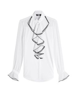 Karl Lagerfeld | Cotton Blouse With Ruffles Gr. It 42