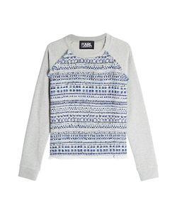 Karl Lagerfeld | Woven Cotton Sweatshirt Gr. Xs