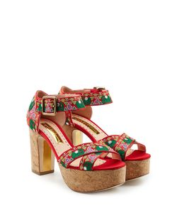 Rupert Sanderson | Embroide Platform Sandals Gr. It 37
