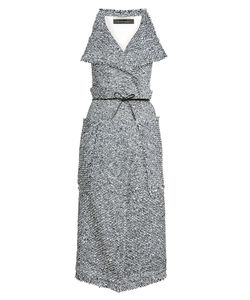 Roland Mouret | Textured Dress With Cotton And Wool Gr. Uk 10