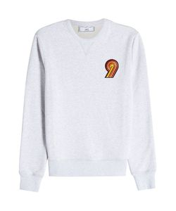 Ami   Embroidered Patch Cotton Sweatshirt Gr. L