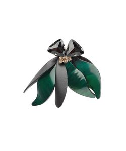 Marni | Embellished Brooch With Leather Gr. One Size