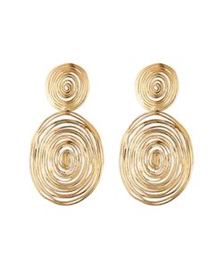 GAS BIJOUX | 24kt Plated Wave Large Earrings Gr. One Size