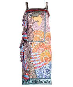 Mary Katrantzou | Printed Dress With Flutter Hem Gr. Uk 8