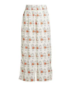 SHRIMPS | Printed Silk Wide-Leg Pants Gr. Uk 10