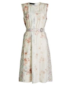 Calvin Klein Collection | Printed Silk Chiffon Dress Gr. It 44