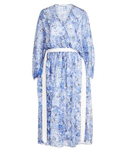 Agnona | Printed Silk Chiffon Dress Gr. It 40