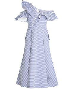 SELF-PORTRAIT | Striped Off-Shoulder Dress In Cotton Gr. Uk 12