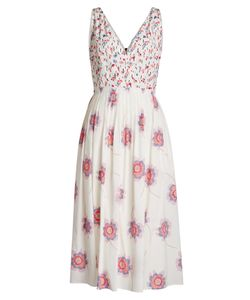 Agnona | Printed Silk Midi Dress Gr. It 40