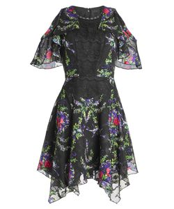 Anna Sui | Printed Dress With Lace Gr. Us 6