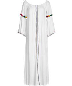 Pitusa | Off-The-Shoulder Pom Pom Maxi Dress Gr. One