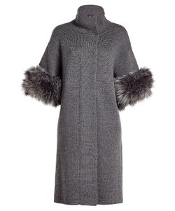 Steffen Schraut | Merino Wool Coat With Faux Fur Gr. De 34