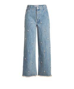 Sandy Liang | Ghost Embellished Jeans Gr. Fr 40