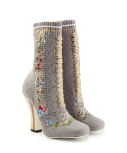 Fendi | Embroidered Boot Heels Gr. It 40