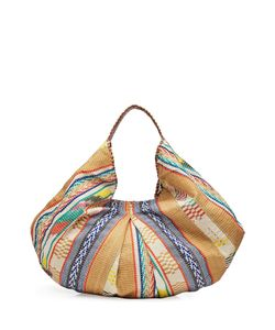 Christophe Sauvat | Embroidered Hobo Tote With Cotton Gr. One Size