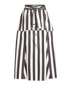 Nina Ricci | Striped Silk Midi Skirt Gr. De 40