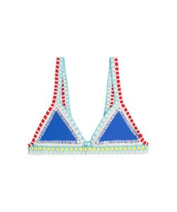 KIINI | Tuesday Crochet Trimmed Bikini Top Gr. M