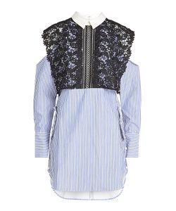 SELF-PORTRAIT | Lace Cotton Shirt Dress Gr. Uk 12