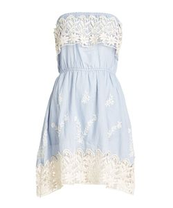 Christophe Sauvat | Embroidered Cotton Dress With Lace Gr. L