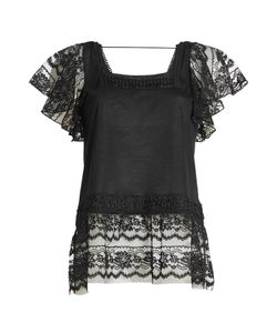 Anna Sui | Top With Lace And Embroidery Gr. L