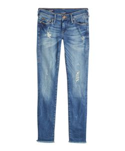 True Religion | Distressed Low Rise Super Skinny Jeans Gr. 31