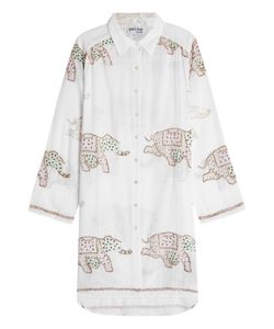 Juliet Dunn | Embellished Cotton Shirt Gr. 1