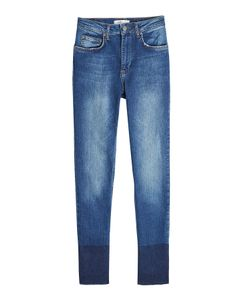 ANINE BING | Skinny Jeans With Contrast Ankle Detail Gr. 27