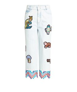 Peter Pilotto | Embroidered Jeans With Patches Gr. 26