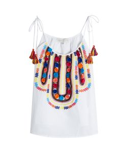 Christophe Sauvat | Embroide Cotton Top With Pompoms Gr. S