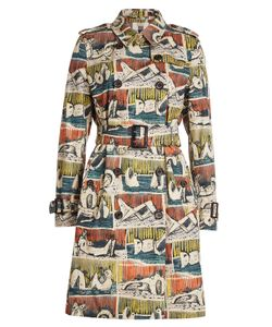 Burberry London | Printed Cotton Trench Coat Gr. Uk 8