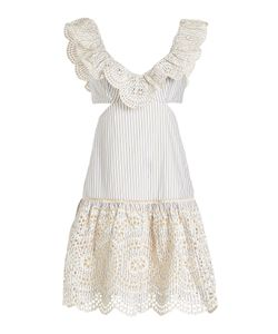 Zimmermann | Striped Cotton Dress With Cut-Out Detail Gr. 1