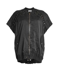 Faith Connexion | Short Sleeved Jacket With Lace-Up Detail Gr. S