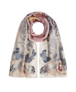 Alexander McQueen | Printed Silk-Blend Scarf With Thread Gr. One Size