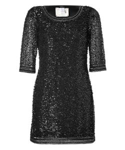 Collette Dinnigan | Black Highland Fling Beaded Mini-Dress Gr. S